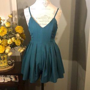 Beautiful pleated green dress